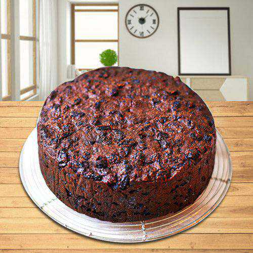 Artistic Plum Cake from Taj or 5 Star Bakery