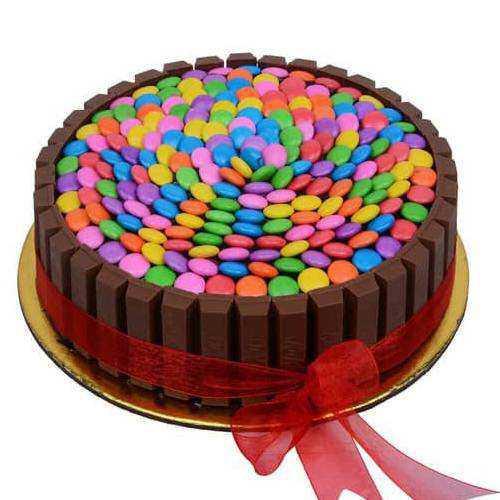 Tasty Kitkat Gems Cake