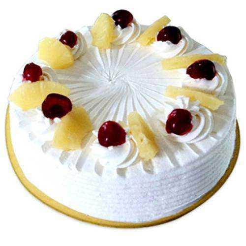Mesmerizing Eggless Pineapple Cake