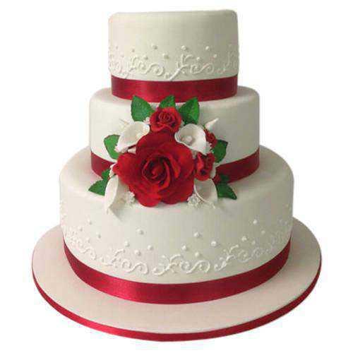 Designer 3 Tier Wedding Cake