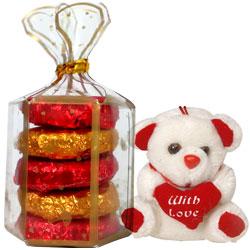 Homemade Chocolates Oreo flavour with small Teddy Bear
