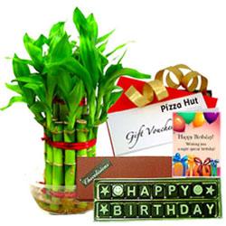 Unique Birthday Hamper with Pizza Hut Gift Voucher