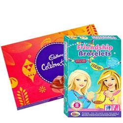 Fabulous Combo of Barbie Bracelet N Cadbury Celebration