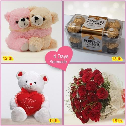 4 Day Surprise Serenade Continue Surprising your Valentine on 15th too !