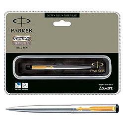 Parker Vector Stainless Steel Ball Pen (GT)