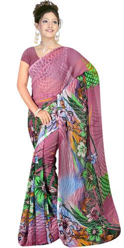 Amazing Suredeal Branded Georgette Fabric Printed Saree