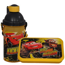 Classic Kids Delight Disney Car Pattern Tiffin Set
