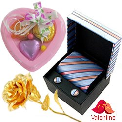Comforting Set of Tie and Cufflink