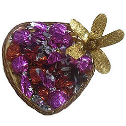 Heart Shaped Pack of Assorted Homemade Chocolates