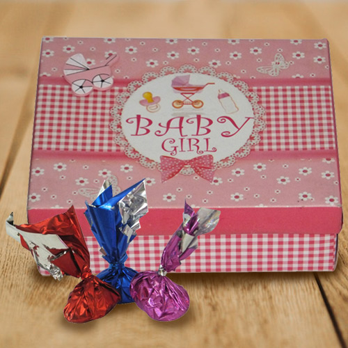 Mouth-Watering Baby Girl Homemade Chocolates Box