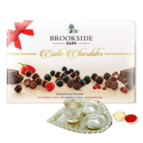 Brookside Dark Chocolates Gift Back