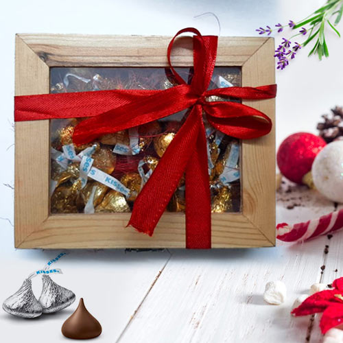 Yummy Hersheys Kisses Wooden Gift Box