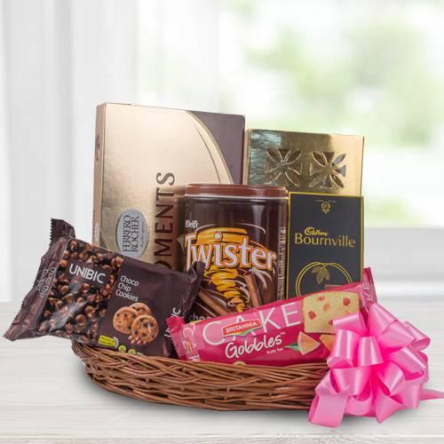 Exquisite Chocolate Gift Basket