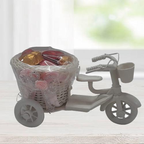 Sensational Heart Shape Handmade Chocolates in Tri-Cycle
