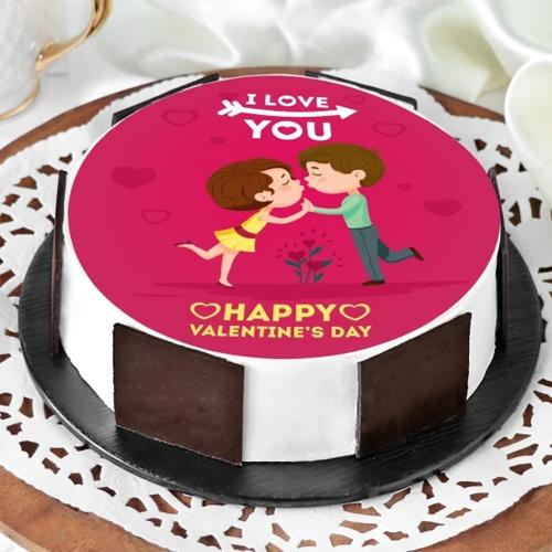 Delightful Gift of Vanilla Flavor Photo Cake
