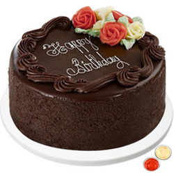 Joyful Treat Dark Chocolate Cake with free Roli Tilak and Chawal