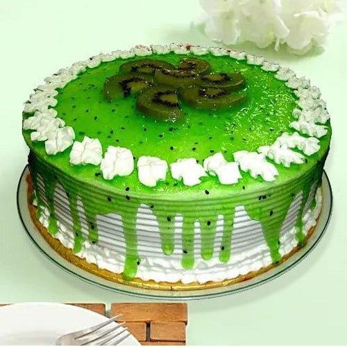 Eggless Kiwi Cake