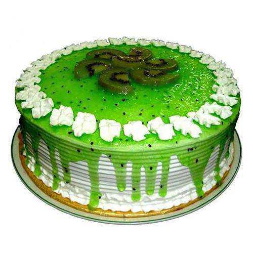 Sumptuous Eggless Kiwi Cake
