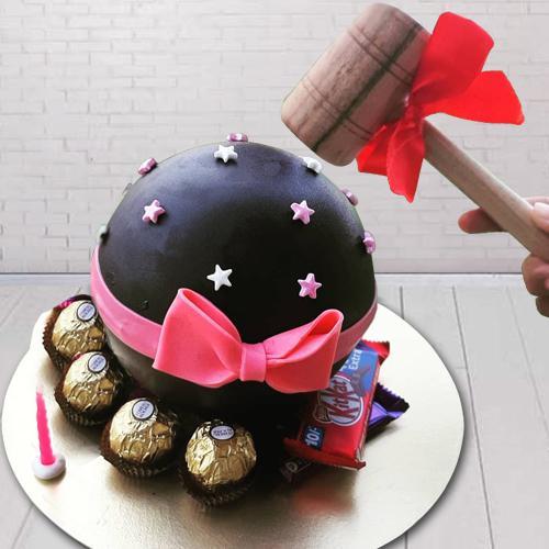 Designer Smash Cake with Hammer n Chocolates