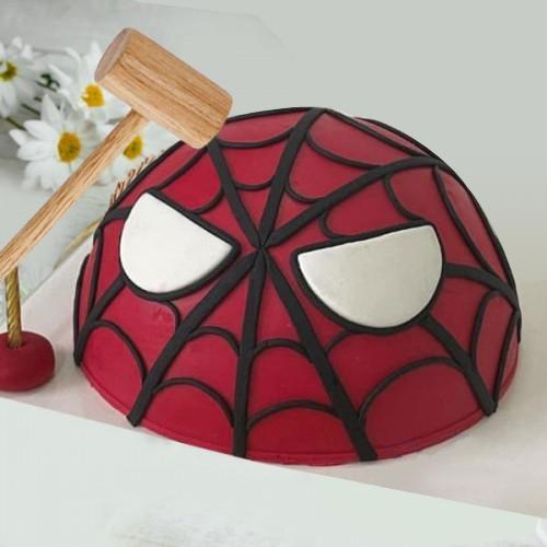 Delectable Spiderman Piñata Cake for Kids
