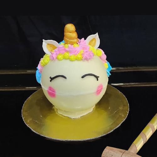 Designer Unicorn Piñata Cake