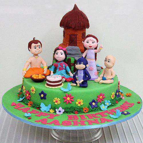 Exquisite Chota Bheem Theme Cake for Children