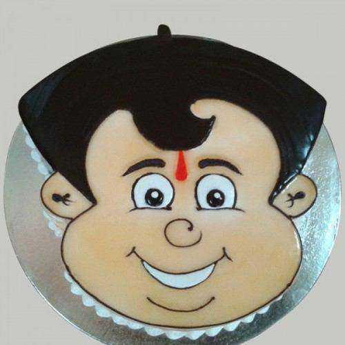 Mouth-Watering Chota Bheem Shaped Cake for Kids