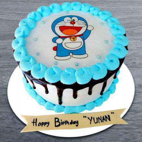 Elegant Doremon Special Photo Cake for Kids