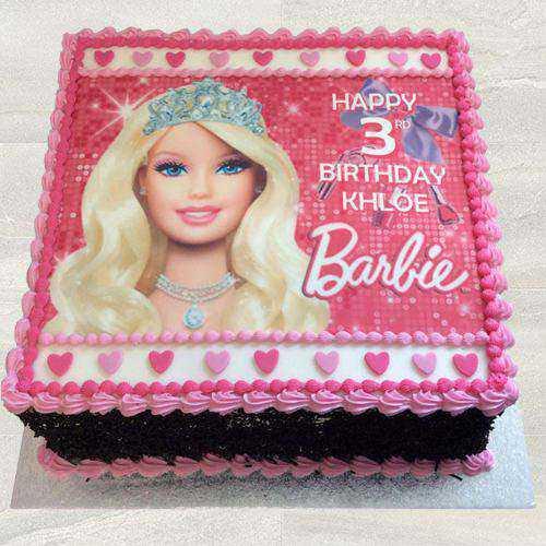 Delightful Kids Special Barbie Photo Cake