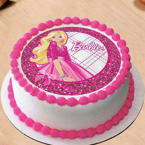 Treasured Birthday Special Barbie Photo Cake