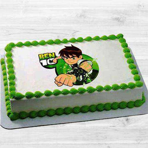 Appetizing Ben 10 Cake for Kids