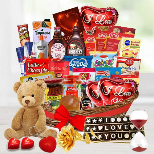 Amazing Valentine Brunch Basket