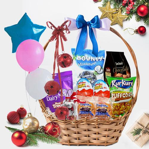 Festive Charm Gift Basket for Kids