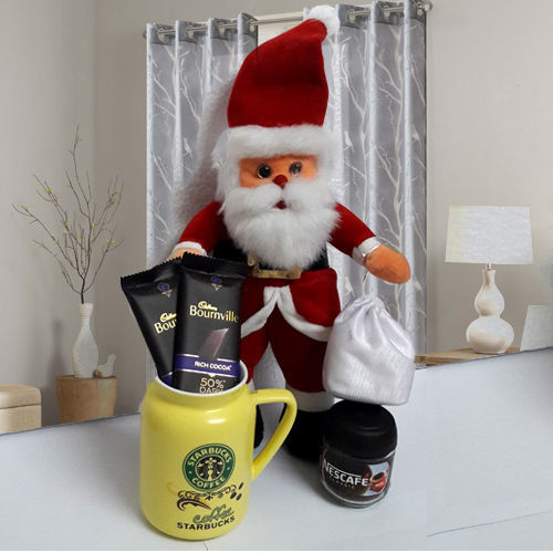 Santa Claus with Coffee Delight