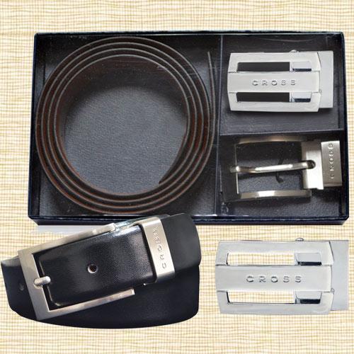 Reversible Black Belt n Buckle Gift Set