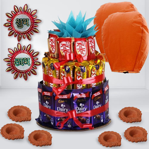 Exclusive Chocolates Arrangement for Diwali Gift
