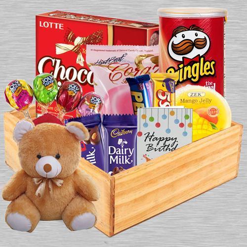 Outstanding Goodies Gift Hamper for Birthday
