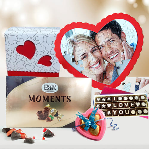 Delightful Personalized Love Puzzle with Chocolates