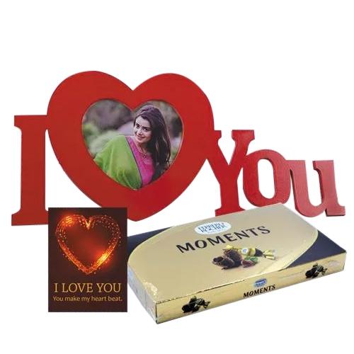 Wonderful Personalized ILU Gift Combo with Chocolates