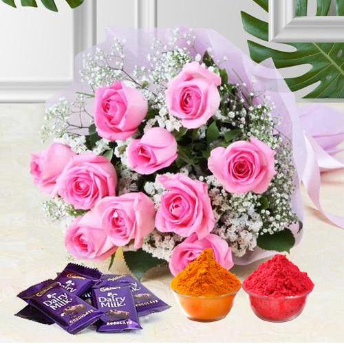 Jubilant Assort of Flowerets and Comfits