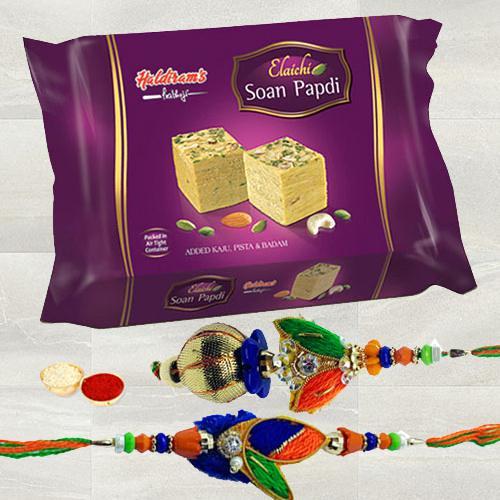 Haldiram Soan Papdi with Rakhi Set