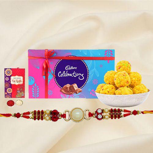 Rakhi with Chocolates n Sweets