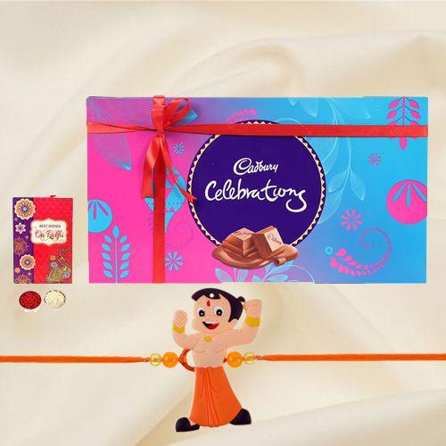 Kids Rakhi with Csadburys Chocolates