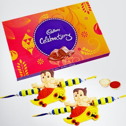 Cadbury Celebrations with 2 Kids Rakhi