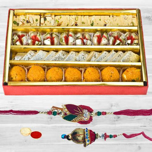 Bhaiya Bhabhi Rakhi with Assorted Sweets