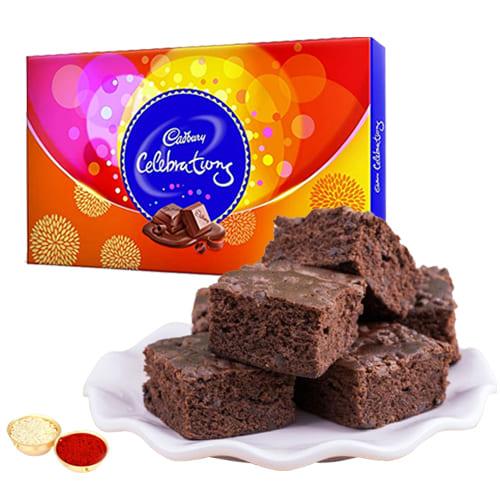 Marvelous Cadbury celebrations N Brownie Combo