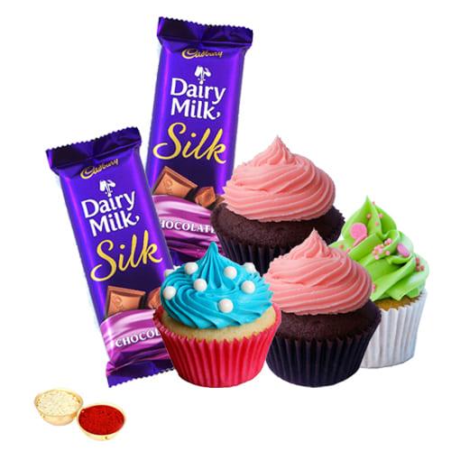 Yummy Cadbury Silk Chocos N Cup Cakes