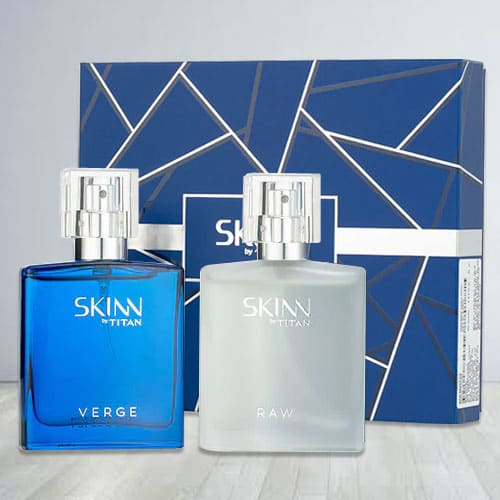 Amazing Titan Skinn Verge and Raw Fragrances Set for Men