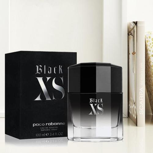 Exclusive Gift of Paco Rabanne Black XS Eau De Toilette for Men<br>