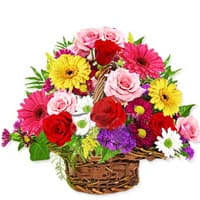 Mesmerizing Mixed Floral Basket